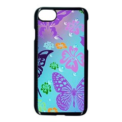 Butterfly Vector Background Apple Iphone 7 Seamless Case (black)