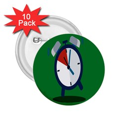 Alarm Clock Weker Time Red Blue Green 2 25  Buttons (10 Pack)  by Alisyart