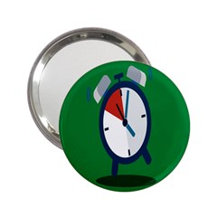 Alarm Clock Weker Time Red Blue Green 2 25  Handbag Mirrors