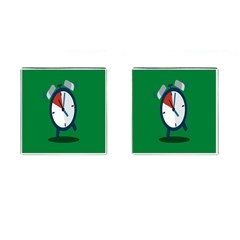 Alarm Clock Weker Time Red Blue Green Cufflinks (square) by Alisyart