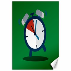 Alarm Clock Weker Time Red Blue Green Canvas 12  X 18   by Alisyart