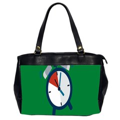 Alarm Clock Weker Time Red Blue Green Office Handbags (2 Sides)  by Alisyart