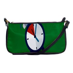 Alarm Clock Weker Time Red Blue Green Shoulder Clutch Bags