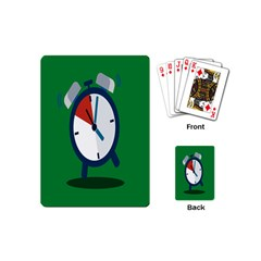 Alarm Clock Weker Time Red Blue Green Playing Cards (mini)  by Alisyart