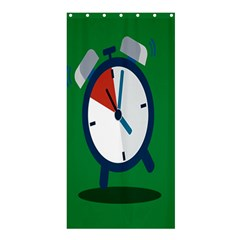 Alarm Clock Weker Time Red Blue Green Shower Curtain 36  X 72  (stall)  by Alisyart