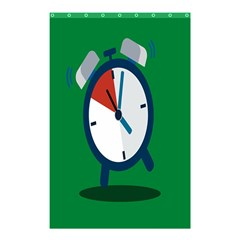 Alarm Clock Weker Time Red Blue Green Shower Curtain 48  X 72  (small)