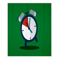 Alarm Clock Weker Time Red Blue Green Shower Curtain 60  X 72  (medium)