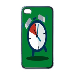 Alarm Clock Weker Time Red Blue Green Apple Iphone 4 Case (black)