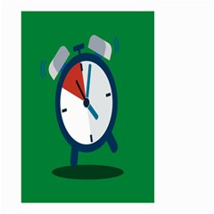 Alarm Clock Weker Time Red Blue Green Small Garden Flag (two Sides) by Alisyart