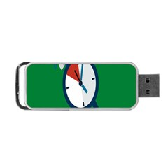 Alarm Clock Weker Time Red Blue Green Portable Usb Flash (one Side) by Alisyart