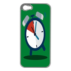 Alarm Clock Weker Time Red Blue Green Apple Iphone 5 Case (silver)