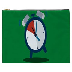 Alarm Clock Weker Time Red Blue Green Cosmetic Bag (xxxl)
