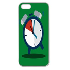 Alarm Clock Weker Time Red Blue Green Apple Seamless Iphone 5 Case (clear) by Alisyart