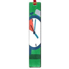 Alarm Clock Weker Time Red Blue Green Large Book Marks by Alisyart