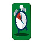 Alarm Clock Weker Time Red Blue Green Samsung Galaxy S4 I9500/I9505  Hardshell Back Case Front