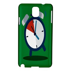 Alarm Clock Weker Time Red Blue Green Samsung Galaxy Note 3 N9005 Hardshell Case by Alisyart