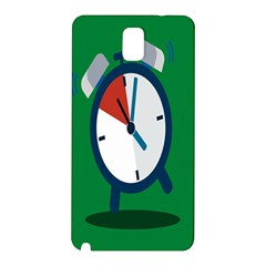 Alarm Clock Weker Time Red Blue Green Samsung Galaxy Note 3 N9005 Hardshell Back Case by Alisyart
