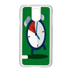 Alarm Clock Weker Time Red Blue Green Samsung Galaxy S5 Case (white)