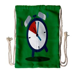 Alarm Clock Weker Time Red Blue Green Drawstring Bag (large) by Alisyart