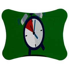 Alarm Clock Weker Time Red Blue Green Jigsaw Puzzle Photo Stand (bow)
