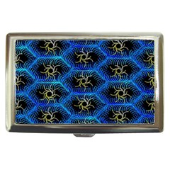 Blue Bee Hive Pattern Cigarette Money Cases by Amaryn4rt