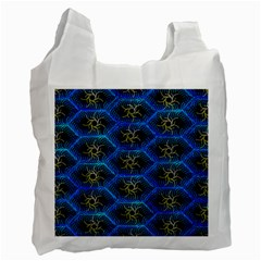 Blue Bee Hive Pattern Recycle Bag (one Side) by Amaryn4rt