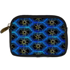 Blue Bee Hive Pattern Digital Camera Cases by Amaryn4rt