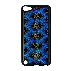Blue Bee Hive Pattern Apple Ipod Touch 5 Case (black) by Amaryn4rt