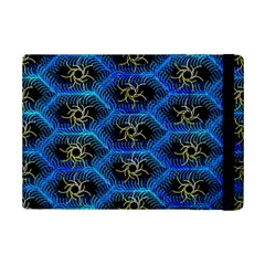 Blue Bee Hive Pattern Ipad Mini 2 Flip Cases by Amaryn4rt