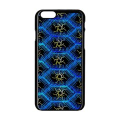 Blue Bee Hive Pattern Apple Iphone 6/6s Black Enamel Case by Amaryn4rt