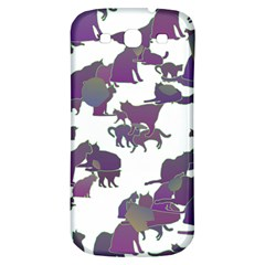 Many Cats Silhouettes Texture Samsung Galaxy S3 S Iii Classic Hardshell Back Case by Amaryn4rt