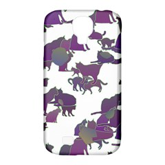 Many Cats Silhouettes Texture Samsung Galaxy S4 Classic Hardshell Case (pc+silicone) by Amaryn4rt