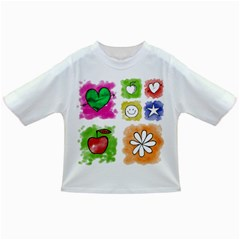 A Set Of Watercolour Icons Infant/Toddler T-Shirts