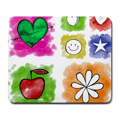 A Set Of Watercolour Icons Large Mousepads