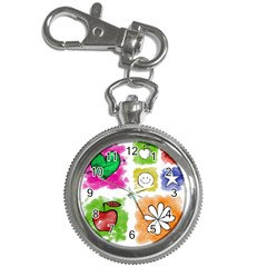 A Set Of Watercolour Icons Key Chain Watches