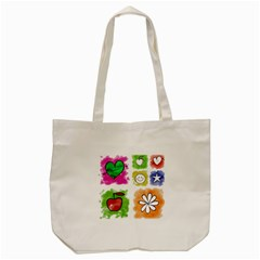 A Set Of Watercolour Icons Tote Bag (Cream)