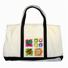 A Set Of Watercolour Icons Two Tone Tote Bag