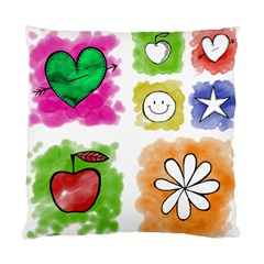 A Set Of Watercolour Icons Standard Cushion Case (One Side)