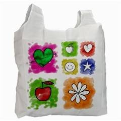 A Set Of Watercolour Icons Recycle Bag (One Side)