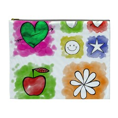A Set Of Watercolour Icons Cosmetic Bag (XL)