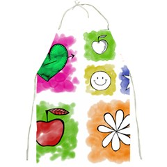 A Set Of Watercolour Icons Full Print Aprons
