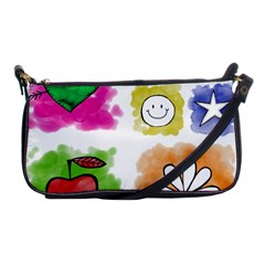 A Set Of Watercolour Icons Shoulder Clutch Bags