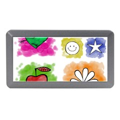 A Set Of Watercolour Icons Memory Card Reader (Mini)