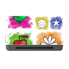 A Set Of Watercolour Icons Memory Card Reader with CF