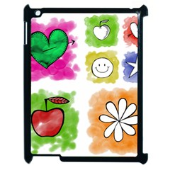 A Set Of Watercolour Icons Apple iPad 2 Case (Black)