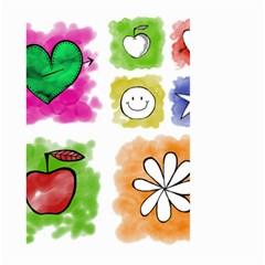 A Set Of Watercolour Icons Large Garden Flag (Two Sides)