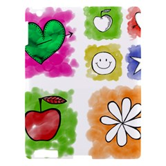 A Set Of Watercolour Icons Apple iPad 3/4 Hardshell Case