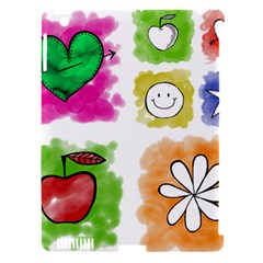 A Set Of Watercolour Icons Apple iPad 3/4 Hardshell Case (Compatible with Smart Cover)