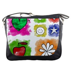 A Set Of Watercolour Icons Messenger Bags