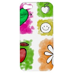 A Set Of Watercolour Icons Apple iPhone 5 Hardshell Case